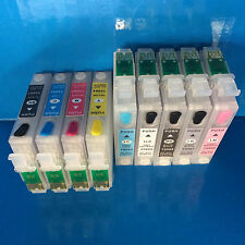 9 REFILLABLE EMPTY INK CARTRIDGES FOR EPSON STYLUS PHOTO R2880 PRINTER NON OEM