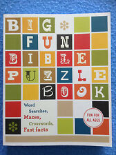 BIG FUN BIBLE PUZZLE BOOK Word Searches Mazes Crosswords Thomas Nelson 2015 NEW