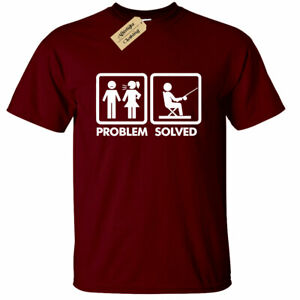 Fishing Problem Solved T-Shirt funny fisherman gift Mens tee novelty