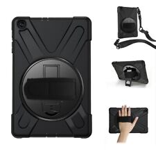 TUFF LUV Rugged Armour Case (Shoulder & Hand Strap) Compatible with Samsung 10.1