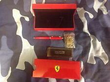 Sheaffer Red Ferrari Ballpoint Pen With Box And Keyring