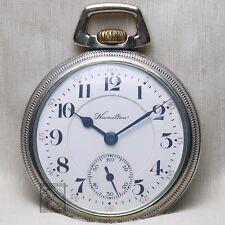 1910 Hamilton 21 Ruby Jewel 992 RAILROAD Grade Pocket Watch 16s Antique USA