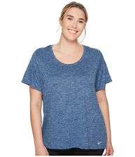 Nike Dry Legend  Plus Size Womens Shirt Top 3x 3xl  Blue