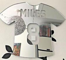 Football  shirt Acrylic Mirror Home Decor Nursery Kids Room Personalised Name