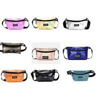 US stock new V fashion multicolor shiny belted waist pouch fanny pack