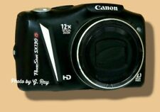 CANON SX130 IS BLACK MECHANICALLY RECONDITIONED-LIGHT WT.-OIS REDUCES HAND SHAKE