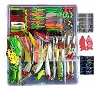 Fishing Lures Kit 273pcs/Set Tackle Box Crankbaits Spinnerbaits Plastic Worms