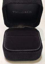 AUTH. TIFFANY & CO. SOLITAIRE RING BLUE SUEDE PRESENTATION BOX - NO OUTER BOX