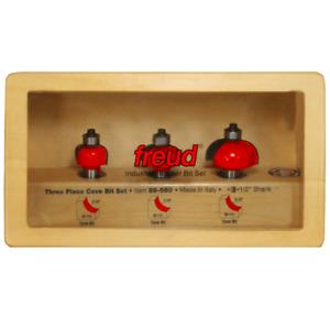 Freud 89-550 3-Piece Cove Router Bit Set