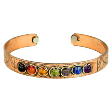 REIKI énergie Chargé naturelle cristal & cuivre Bracelet Chakra Balancing Cadeau