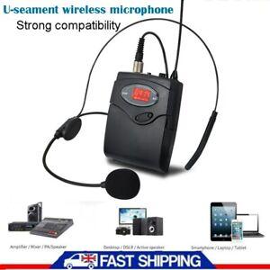 Mic Transmitter Headset Set Mini Wireless Cordless Head-Mounted Microphone New