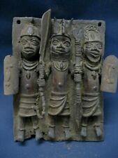 art africain plaque royale en bronze IFE BENIN 42 cm Afrikanische Kunst