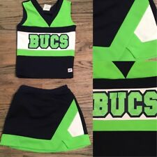 Real Cheerleading Uniform Girls Sz12 Neon Green