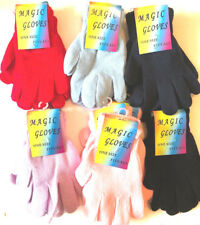 1- 12 PAIR ASSORTED  MAGIC GLOVES - ADULTS MAGIC GLOVES  LADIES GLOVES