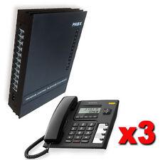 Kit Standard téléphone 3/8 lignes + 3 téléphones Alcatel LCD guide italien
