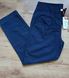 John Lewis Ladies Pure Cotton Navy Trousers Size 12 New With Tags