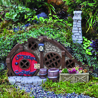 Fairy Garden Houses: Burrows and Hobbit Style Houses Fiddlehead Opening Doors