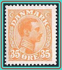 DENMARK 1913 KING SC#114 MLH full OG CV$29.00 period GUM/light HORISONTAL CREASE
