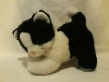 Applause Vintage Black White Tuxedo Cat Kitten Plush Toy 10""