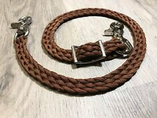 Brown Wither Strap Hand Braided Paracord Adjustable With Trigger Snaps