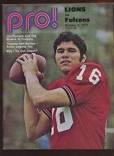 October 3 1971 NFL Football Program Atlanta Falcons vs Detroit Lions EXMT