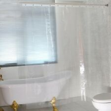 Solider Shower Curtain Liner Waterproof PEVA Bathroom Set Hooks 72x72 Inch