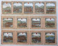 SCHWEIZ DECEM ET TRIA LOCA CONFOEDERATORUM HELVETIAE BRAUN HOGENBERG KANTON 1581