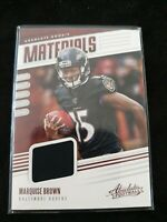 2019 Absolute Marquise Brown RC Ravens Materials Rookie Jersey #RM-27