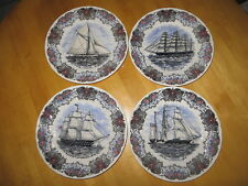 Tall Ship Plates By Churchill  Currier & Ives Nautical Tall Ships Set of 4