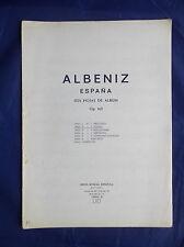 ALBENIZ ESPANA SEIS HOJAS DE ALBUM Op.165 19501-2 TANGO FOR PIANO MUSIC SHEET