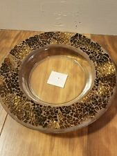 Yankee - Brown MosaicCandle Holder - New With Tags