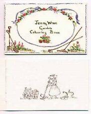 AUTOGRAPHED MINT 1991 First Edition Tasha Tudor Jenny Wren Garden Colouring Book