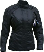 Women Motorcycle motorbike textile Cordura waterproof Jacket Armoured Black
