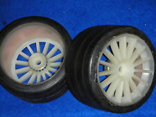LOT 2 jantes NITRO T X-TYRES roue PNEUS de piste WHEELS voiture TIRES course CAR