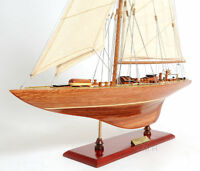 "Endeavour America's Cup J Class Yacht Wood Model 24"" Boat Sailboat New"