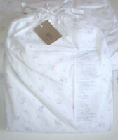 Shabby Chic COUTURE King Pillowcases PEARL FLORAL pink white