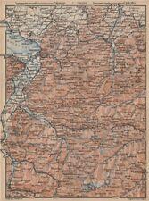 VORARLBERG & BREGENZER WALD. Bludenz St Anton Zürs Lech See Ischgl 1929 map