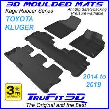 For Toyota Kluger 2014 - 2020 Genuine 3D Black Rubber Floor Mats