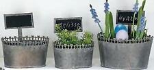 Ovale Deko-Pflanzenschalen aus Metall