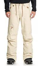 Quiksilver Elmwood Snow Pants Ski Snowboard 15K Men's XS Beige Mojave $170 NEW