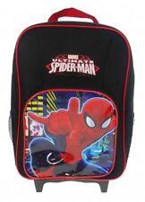 Spiderman 2015 Neon Premium Wheelie School Travel Trolley Roller Wheeled Bag
