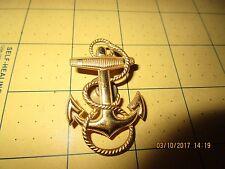 Vintage 10 Karat Gold Filled USN US Navy Pin Anchor Rope Hat Badge