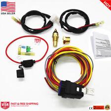 Heavy Duty 165 / 185 Electric Fan Relay Wiring Harness Thermostat Sensor 40A Kit