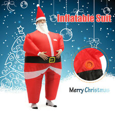 Adult Santa Claus Inflatable Costume Blow Up Suit Cosplay Party Dress Outfit Red