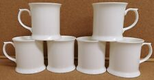 More details for trent small tankard white fine bone china set of 6 mugs 9oz 250ml cups