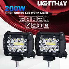 2pcs 4inch 72W CREE LED Work Light Bar Pods Flush Mount Combo Driving Lamp 12V