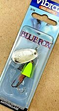 Blue Fox Vibrax 3/16 oz Chartreuse Body Silver Blade Size 2 Spinner Fishing Lure
