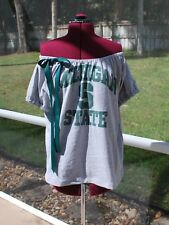 Michigan State Spartans Off One Shoulder Shirt Top Upcycled Medium / Large