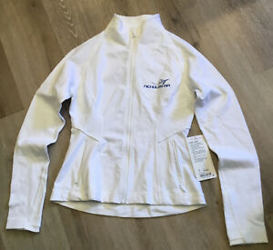 *NWT Lululemon Lightly Jacket Sz 8 Luon Suited White w/Blue Sewn Patch
