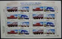 Korea Süd 2005 Brücken Bridges II Architektur 2480-83 Kleinbogen MNH